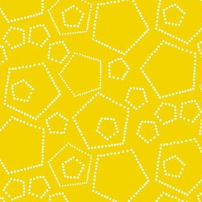 hexagon dots white-yellow