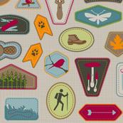 Julie's Hiking Badges Beige HALFsize