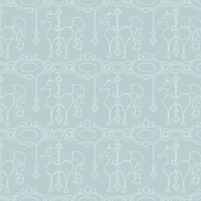 Julie's Carrousel Drawing soft blue