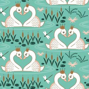 Swan song limited color palette spearmint