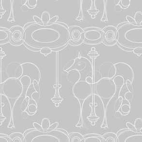 Julie's Carrousel Drawing soft gray