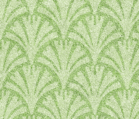 Lime Green on Green Faux Velvet Fan Pattern -ed