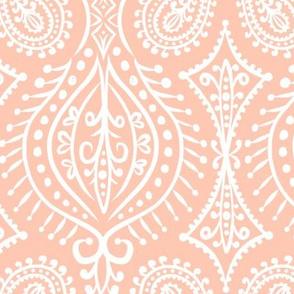 Marrakech - Paisley Blush Pink Large Scale