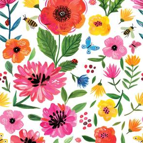 Rainbow flowers - Wallpaper