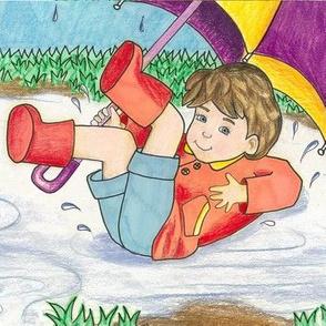 Rain boot Boy
