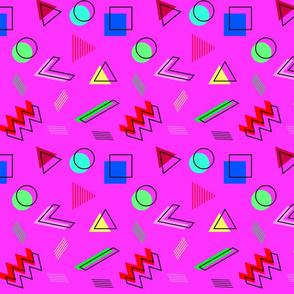 Super Shapes on Hot Pink