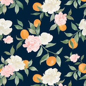 Kumquat bouquet navy
