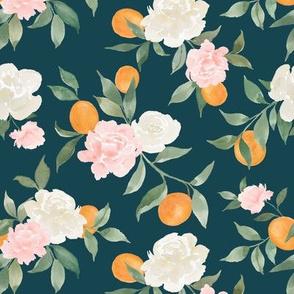 Kumquat bouquet teal