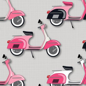 VespasPinksVespas Galore *PINKS on Gray