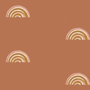 freehand rainbow - terracotta, symmetric