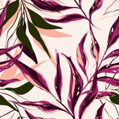 Palm pink green