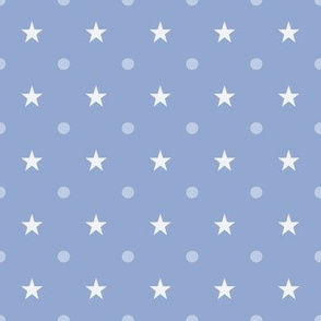Stars and dots on Serenity blue