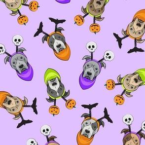Halloween Pitties - Pit Bull Terrier - purple - LAD19