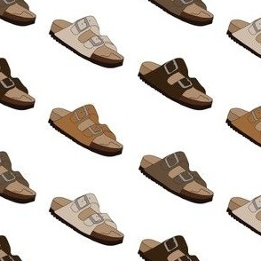 birkenstocks - shoes, sandals, neutral, earthy, outdoors - earth tones - neutral shoes white