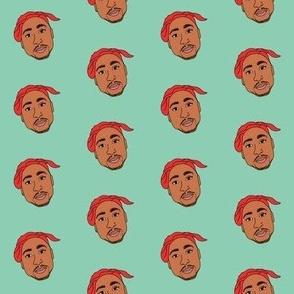 tupac fabric - tupac shakur, suge knight fabric - hip hop fabric, american - mint