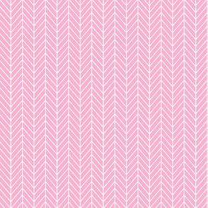 Herringbone - Bright Pink