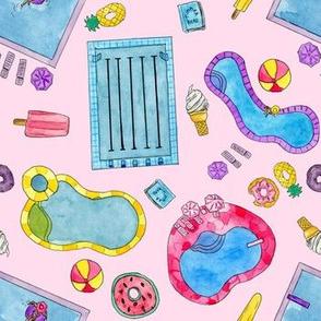 Summer Poolside Pastels