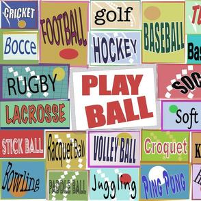PLAY BALL   PLAY BALL