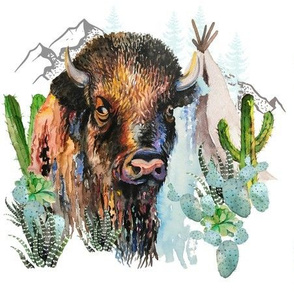 "9"" Boys Aztec Boho Buffalo"