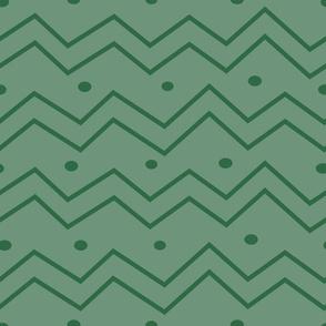 green zigzags