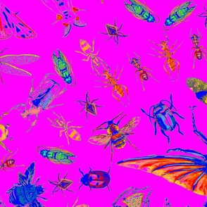 Insects 80s Neon