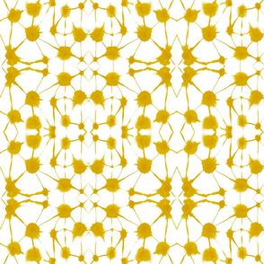 watercolor shibori mustard medium scale