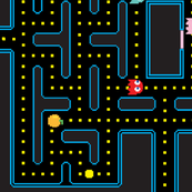 Pacman Retro Video Game Pattern ROTATE