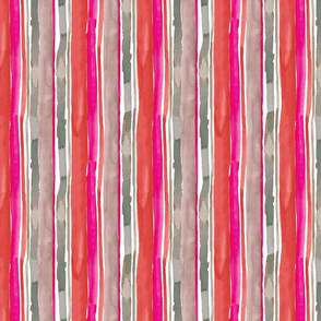 Dusky Stripes Burnt Reds