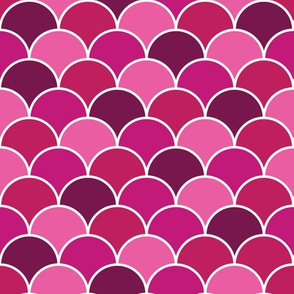 Pink Clam Shells seamless vector pattern