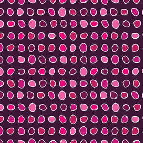 Pink Polka Dots seamless repeat pattern