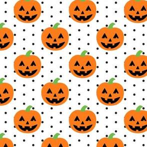 Jack-o'-lantern - halloween pumpkins - polka dots - LAD19