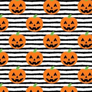 Jack-o'-lantern - halloween pumpkins - black stripes - LAD19