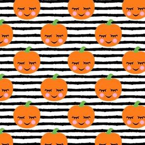 Cute Halloween Pumpkins - black stripes - LAD19