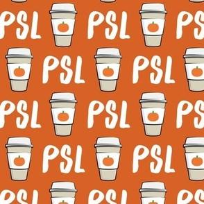 Pumpkin Spice - PSL (orange) -Coffee Cups - Latte - Pumpkin fall drink - LAD19
