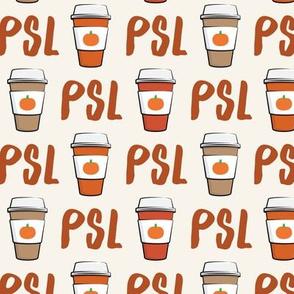 Pumpkin Spice - PSL - Coffee Cups - Latte - Pumpkin fall drink - LAD19