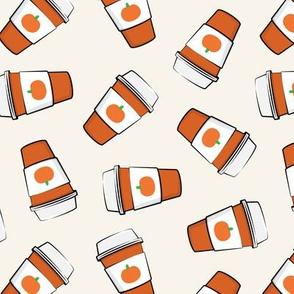 Pumpkin Spice - Coffee Cups - Latte - Pumpkin fall drink - LAD19