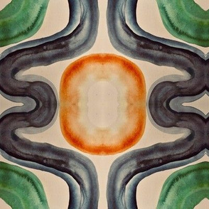 green orange lattice