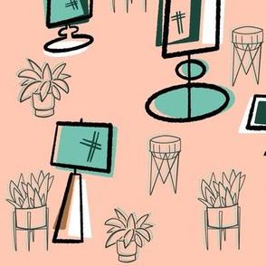 MidCentury Lamps & Plants