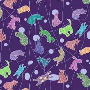Doggie Daydreams-dark purple