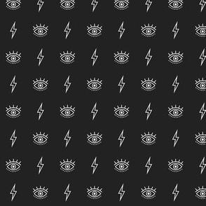 Eyes And Lightning - Black