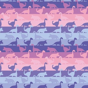 dinos stripes in pinks and purples