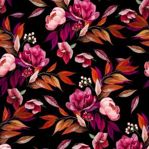 Floral Wind Black