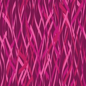 Pink Streamers Seamless Vector Pattern