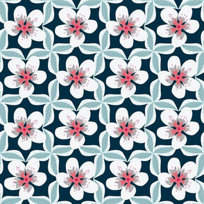 Leaves and Flowers in a Geometric Layout