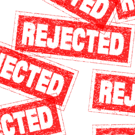 30 rejected no disapproved denied failed failure refused