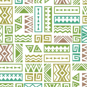 Polynesia Geometric Tapa (Earth Colors)
