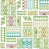 Polynesia Geometric Tapa (Earth Colors)