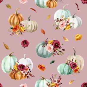 Pumpkin Cider Florals // Clam Shell