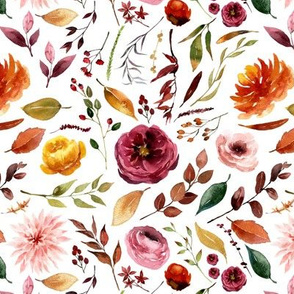 Apple Cider Fall Florals // White