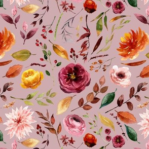 Apple Cider Fall Florals // Clam Shell